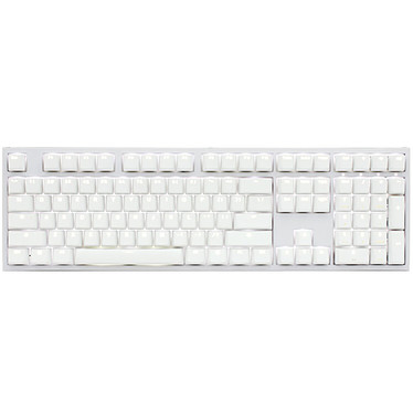 Ducky Channel One 2 Backlit (coloris blanc - Cherry MX Blue - LEDs blanches)