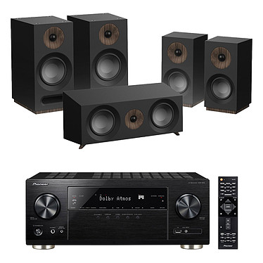 Pioneer VSX-933 Noir + Jamo S 803 HCS Noir Ampli-tuner Home Cinéma 7.2 Multiroom, Dolby Atmos, DTS:X, HDMI 4K Ultra HD, HDCP 2.2, HDR HLG, Hi-Res Audio, Wi-Fi Dual Band, Bluetooth, Chromecast, DTS Play-Fi, AirPlay + Pack d'enceintes 5.0 compatible Dolby Atmos