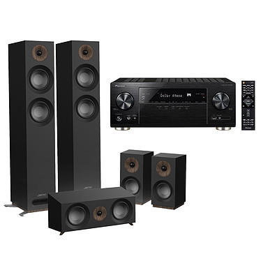 Pioneer VSX-933 Noir + Jamo S 807 HCS Noir Ampli-tuner Home Cinéma 7.2 Multiroom, Dolby Atmos, DTS:X, HDMI 4K Ultra HD, HDCP 2.2, HDR HLG, Hi-Res Audio, Wi-Fi Dual Band, Bluetooth, Chromecast, DTS Play-Fi, AirPlay + Pack d'enceintes 5.0 compatible Dolby Atmos