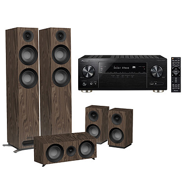 Pioneer VSX-933 Noir + Jamo S 807 HCS Noyer Ampli-tuner Home Cinéma 7.2 Multiroom, Dolby Atmos, DTS:X, HDMI 4K Ultra HD, HDCP 2.2, HDR HLG, Hi-Res Audio, Wi-Fi Dual Band, Bluetooth, Chromecast, DTS Play-Fi, AirPlay + Pack d'enceintes 5.0 compatible Dolby Atmos