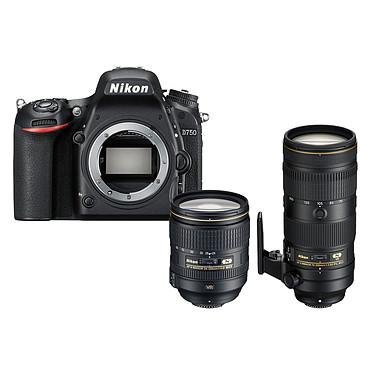 """Nikon D750 + AF-S 24-120MM F/4 VR + AF-S 70-200mm f/2.8E FL ED VR Réflex Numérique 24.3 MP - Écran inclinable 3.2"""" - Vidéo Full HD 1080p - Wi-Fi + Objectif AF-S NIKKOR 24-120MM F/4G ED VR + Super téléobjectif au format FX avec moteur SWM"""