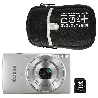 Canon IXUS 190 Argent + Nikon ALM0016C10 + Vanguard Beneto 6 Noir