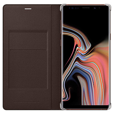 Samsung Flip Wallet Marron Galaxy Note 9 Etui portefeuille pour Samsung Galaxy Note 9