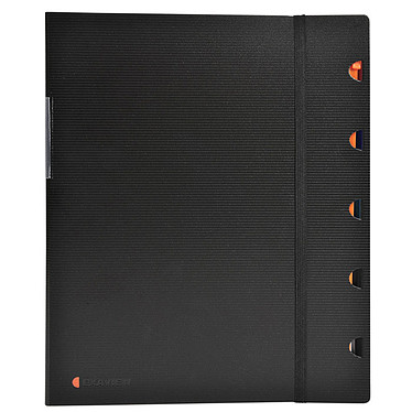 Exacompta Exaview Protège-documents au format A4 avec 60 vues, 30 pochettes Noir