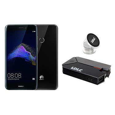 Huawei P8 Lite 2017 Noir + LDLC Power Bank QS10K + Auto S1