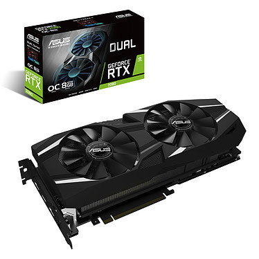 ASUS GeForce RTX 2080 DUAL-RTX2080-O8G 8 Go GDDR6 - HDMI/Tri DisplayPort/USB Type-C - PCI Express (NVIDIA GeForce RTX 2080)
