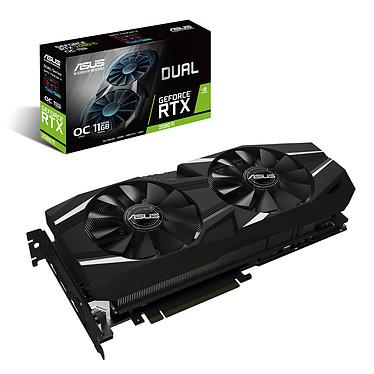 ASUS GeForce RTX 2080 Ti DUAL-RTX2080TI-A11G 11 Go GDDR6 - HDMI/Tri DisplayPort/USB Type-C - PCI Express (NVIDIA GeForce RTX 2080 Ti)