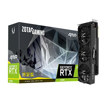ZOTAC GeForce RTX 2080 AMP! Edition 8 Go GDDR6 - HDMI/Tri DisplayPort/USB Type-C - PCI Express (NVIDIA GeForce RTX 2080)