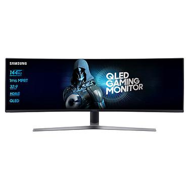 "Samsung 49"" LED - C49HG90DMU 3840 x 1080 pixels - 1 ms - Format large 32/9 - Dalle VA incurvée - HDMI/DisplayPort - Noir"
