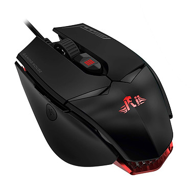 Riitek Gaming Mouse M01 Souris gaming - droitier - capteur laser 12 000 dpi - 7 boutons programmables - rétroéclairage RGB 16.8 millions de couleurs