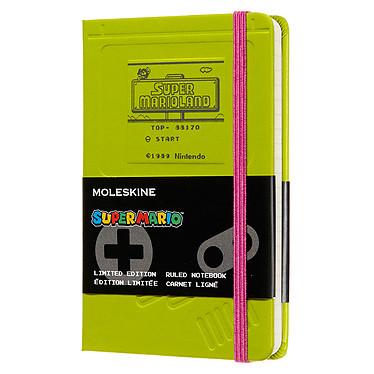 Moleskine Super Mario Game Boy Pocket Carnet Super Mario Game Boy à couverture rigide format de poche ligné - 9 x 14 cm