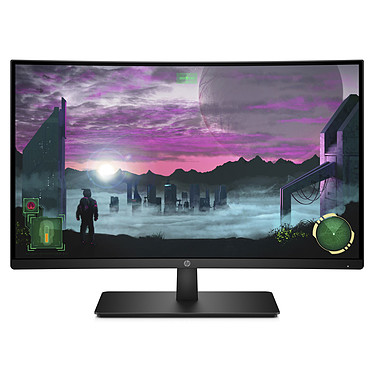 "HP 27"" LED - 27x 1920 x 1080 pixels - 5 ms - Format large 16/9 - Dalle VA incurvée - 144 Hz - DisplayPort - HDMI - Noir"