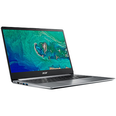 "Acer Swift 1 SF114-32-P825 Gris Intel Pentium Silver N5000 4 Go SSD 256 Go 14"" LED Full HD Wi-Fi AC/Bluetooth Webcam Windows 10 Famille 64 bits"