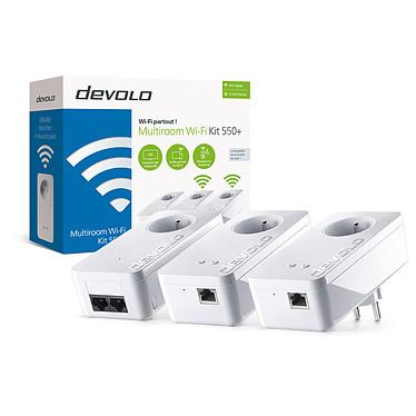 Devolo Multiroom Wi-Fi Kit 550+ Pack de 3 adaptateurs CPL 500 Mbps et Wi-Fi N (300 Mbps) MESH