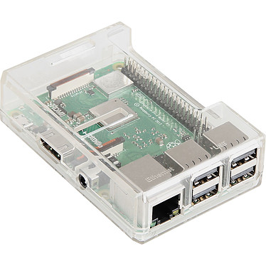 JOY-iT boîtier pour Raspberry Pi 3/2/1 (transparent) Boîtier en plastique (compatible Raspberry 1/2/3)