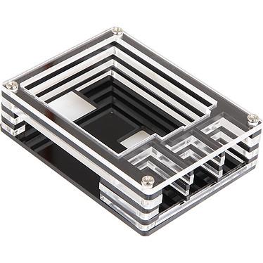 JOY-iT boîtier pour Raspberry Pi 3/2/1 (transparent) Boîtier en Acrylique (compatible Raspberry 1/2/3)