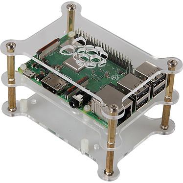 JOY-iT boîtier ouvert pour 2 Raspberry Pi 3/2/1 (transparent)