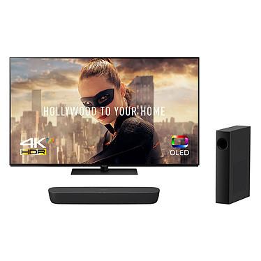 """Panasonic TX-55FZ800E + SC-HTB250 Noir Téléviseur OLED 4K 55"""" (140 cm) 16/9 - 3840 x 2160 pixels - Ultra HD - HDR - Wi-Fi - DLNA - (dalle native 100 Hz) + Barre de son 2.1 120 Watts avec caisson de basses sans fil et Bluetooth"""