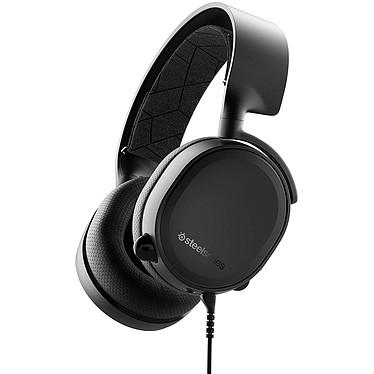 SteelSeries Arctis 3 2019 (noir) Casque gaming - Circum-aural fermé - Microphone bidirectionnel rétractable avec suppression du bruit - Jack - Compatible PC/Mac/Mobiles et consoles
