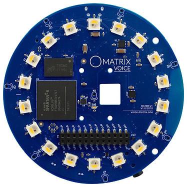 Matrix Labs Matrix Voice Wi-Fi Carte de développement IoT autonome - Wi-Fi/Bluetooth - compatible Raspberry Pi B+ / 2 / 3 / 3B+ / Z / ZW