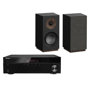 Sherwood RX-4508 + Jamo S 801 Noir Amplificateur-Tuner stéréo Bluetooth 2 x 100 W + Enceinte bibliothèque compacte (par paire)