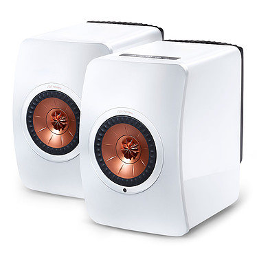 KEF LS50 Wireless Blanc brillant / Cuivre