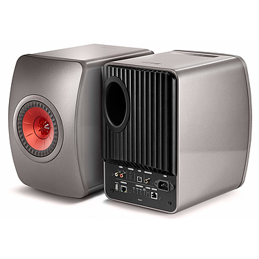 Avis KEF LS50 Wireless Gris titane / Bordeaux