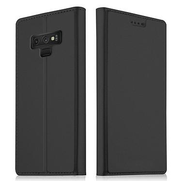 Akashi Etui Folio Porte Carte Noir Galaxy Note 9 Etui folio avec porte carte pour Samsung Galaxy Note 9