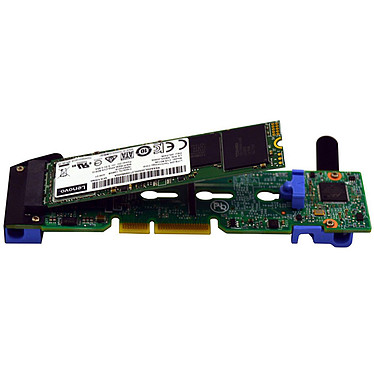 Lenovo ThinkSystem M.2 with Mirroring Enablement Kit (7Y37A01093) Carte contrôleur PCI-Express avec 2 ports M.2 SATA