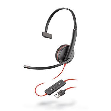 Plantronics Blackwire C3210 USB-A Casque-micro USB monaural optimisé pour Microsoft Lync & Skype for Business