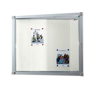 Vanerum Cube intérieur 6 A4 Vitrine d'intérieure à porte battante 6 x A4