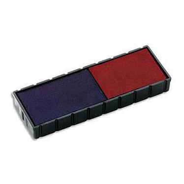 COLOP Lot de 5 recharges bicolore bleu et rouge E/12