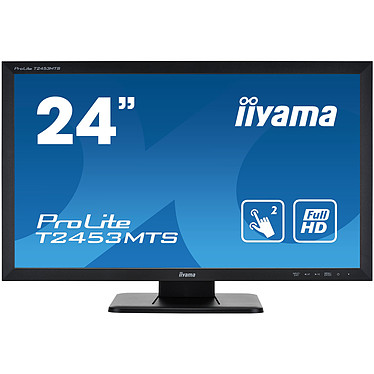 "iiyama 24"" LED Tactile - ProLite T2453MTS-B1 1920 x 1080 pixels - Tactile MultiTouch - Dalle VA - 4 ms - Format large 16/9 - HDMI - Hub USB - Noir"