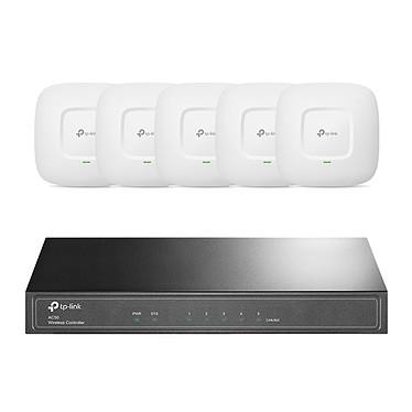 TP-LINK CAP1200 (x5) + TP-LINK AC50 OFFERT ! Pack de 5 points d'accès Wi-Fi AC1200 (AC867 + N300) PoE Gigabit Ethernet - Plafonnier/mural + Contrôleur de réseau local sans fil offert !