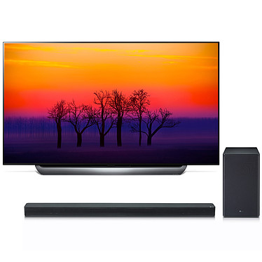 "LG OLED65C8 + SK8 Téléviseur OLED 4K 65"" (165 cm) 16/9 - 3840 x 2160 pixels - Ultra HD 2160p - HDR - Wi-Fi - Bluetooth - Dolby Atmos (dalle native 100 Hz) + Barre de son 2.1 360 Watts"