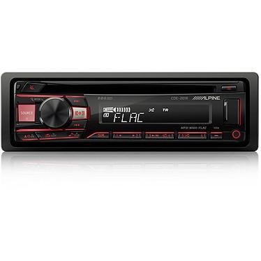 Alpine CDE-201R Autoradio CD/MP3 compatible Android, USB, entrée auxiliaire et éclairage personnalisable
