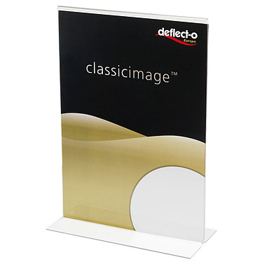 deflecto Soporte folletos verdeical 2 lados A4 Expositor de mostrador vertical transparente 210 x 305 x 93 mm