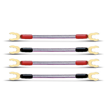 Oehlbach JUMP Lote de 4 câbles de raccord SPC/OFC 6 mm² pour haut-parleur