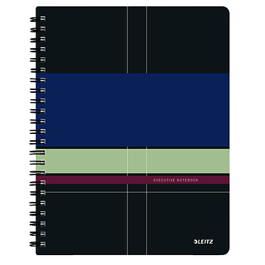 Leitz Executive Get Organised Cahier Spirale 160p A4 petits carreaux