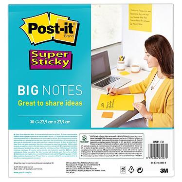 Post-it Big Notes Super Sticky 279 x 279 mm Lot de 30 feuillets 279 x 279 mm jaune