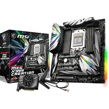 MSI MEG X399 CREATION Carte mère E-ATX Socket sTR4 AMD X399 - 8x DDR4 - SATA 6Gb/s + M.2 - USB 3.1 - 4x PCI-Express 3.0 16x