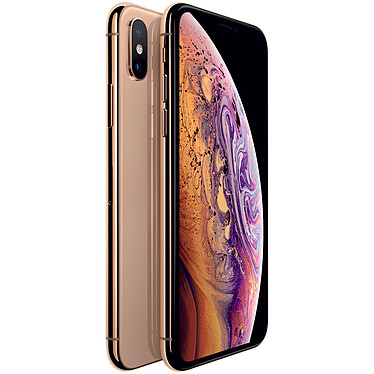 "Apple iPhone Xs 64 Go Or Smartphone 4G-LTE Advanced IP68 Dual SIM - Apple A12 Bionic Hexa-Core - RAM 4 Go - Ecran Super Retina 5.8"" 1125 x 2436 - 64 Go - NFC/Bluetooth 5.0 - iOS 12"