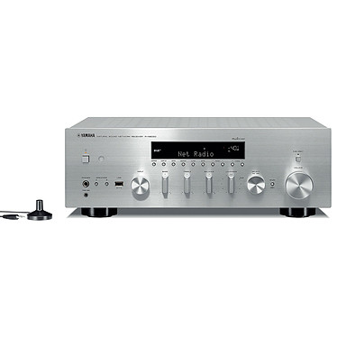 Yamaha MusicCast R-N803D Argent Amplificateur-tuner stéréo intégré 2 x 100 W - FM DAB/DAB+ - DLNA - AirPlay - Wi-Fi - Bluetooth - Multiroom - Calibration YPAO