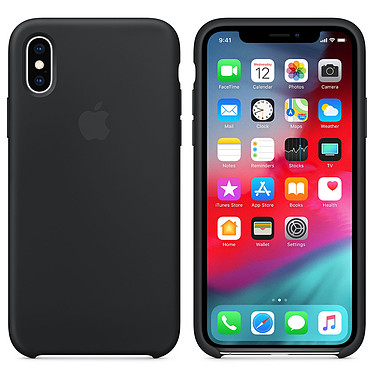 Apple Coque en silicone Noir Apple iPhone Xs