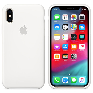 Apple Coque en silicone Blanc Apple iPhone Xs Coque en silicone pour Apple iPhone Xs