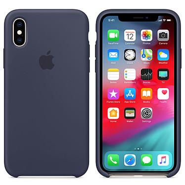 Apple Coque en silicone Bleu Nuit Apple iPhone Xs Coque en silicone pour Apple iPhone Xs