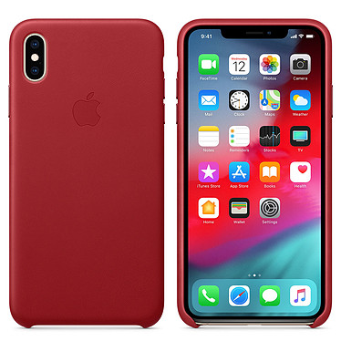 Apple Coque en cuir (PRODUCT)RED Apple iPhone Xs Max Coque en cuir pour Apple iPhone Xs Max