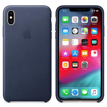 Apple Coque en cuir Bleu Nuit Apple iPhone Xs Max Coque en cuir pour Apple iPhone Xs Max