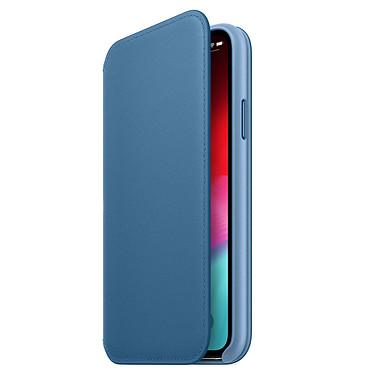 Apple Funda de piel Folio Azul Apple iPhone Xs Funda de piel para Apple iPhone Xs