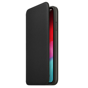 Apple Étui Folio en cuir Noir Apple iPhone Xs Max